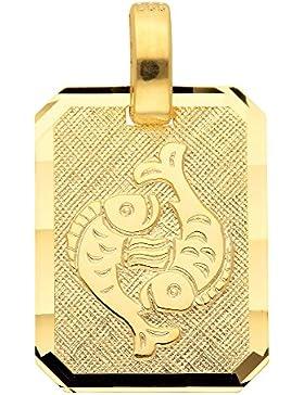Gold 8 k ( 333 ) Sternzeichen Anhänger - Fisch - B. 11,8 mm - H. 15,5 mm