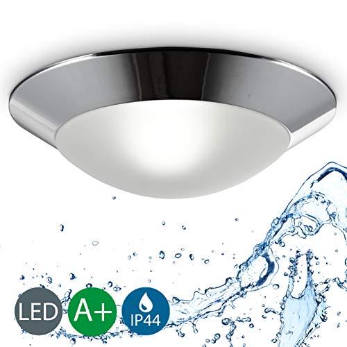 B.K. Licht plafonnier salle de bain IP44, applique salle de bain, éclairage plafond, lumière blanche chaude, E27, 230V, IP44, max 40W, Ø 310mm