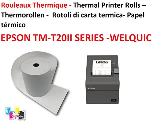 20 bobinas cajón 80 x 80x 12 mm papel térmico cajas