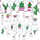 meekoo 20 Pièces Lama Cactus Suspendus Décorations Swirl Swirl Plafond Décor pour...