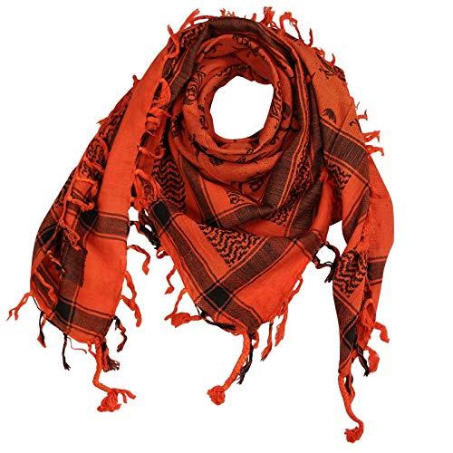 Superfreak Palituch - Totenköpfe mit Säbel orange - schwarz - 100x100 cm - Pali Palästinenser Arafat Tuch - 100{77a41921e1a742da7aa88de33fc5fe6e02f90097deecf993c956ec8c5e61c5f9} Baumwolle
