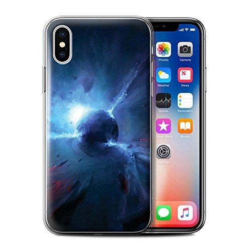 Offiziell Chris Cold Hülle / Gel TPU Case für Apple iPhone X/10 / Entfernten Stern Muster / Galaktische Welt Kollektion Pulsar/Neutron Stern