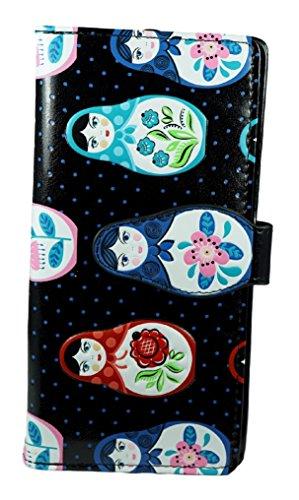 Shagwear portafoglio per giovani donne , Large Purse : Diversi colori e design : (Bambole russe / Russian Dolls)
