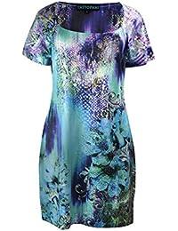 Damen-Sommer-langes Hülsen-Kleid mit Halskette Muster-Druck-und Stickerei