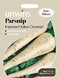 """Unwins - Pacco illustrativo """"Parsnip Improved Hollow Crowned"""" (etichetta in lingua italiana non garantita), semi di pastinaca, 250semi"""