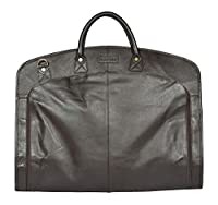 Real Leather Suit Carrier Dress Garment Cover Soft Travel Cabin Suiter Bag HANZ Brown