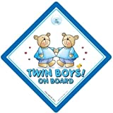 Twins On Board Car Sign, Baby Car sign, Suction Cup Car Sign, Twins Boys On Board, Blue Bears, Twins Car Sign, Baby on Board Sign, Baby on Board, Decal, Bumper Sticker, Baby Sign, Baby Car Sign, Twins Sign, Twins Car Sign, Twins On Board Car Sign