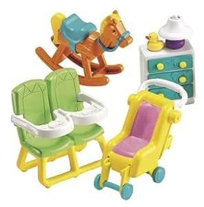 mattel accessoire pour poupee meubles de la maison jumeaux dora jeux et jouets. Black Bedroom Furniture Sets. Home Design Ideas