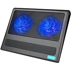 TeckNet® Refroidisseurs Pour Ordinateur Portable Et De Notebook, équipé de 2 ports USB, Adapté Pour 9-16 pouces, Avec 2 Ventilateurs Silencieu