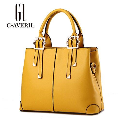 G-AVERIL, Borsa a secchiello donna blu navy Navy Blue Yellow