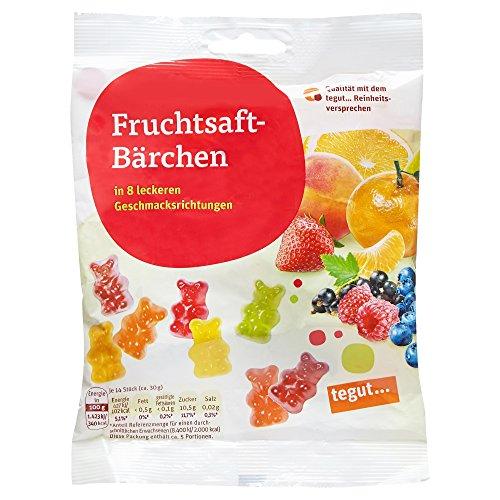 Tegut Fruchtsaft-Bärchen, 5er Pack (5 x 150 g)