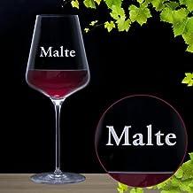 Bicchiere da vino rosso con incisione – personalizzato con [nome] – idee regalo per uomo o donna - regali di Natale - idea regalo per compleanno - capacità: ca. 644 ml