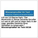 Rosenstein & Söhne Getränke-Sprudler für Soda-Wasser, Softdrinks, Saft-Schorle, Limonade -