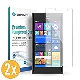 smartect Panzerglas für Microsoft Lumia 730 [2 Stück] - Bildschirmschutz mit 9H Härte - Blasenfreie Schutzfolie - Anti Fingerprint Panzerglasfolie