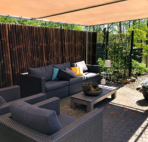 Bambuszaun: DE-COmmerce Extrem Stabiler Bambus Holz Sichtschutz Zaun XL
