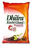 #6: Dhara Kachhi Ghani Mustard Oil Pouch, 1L