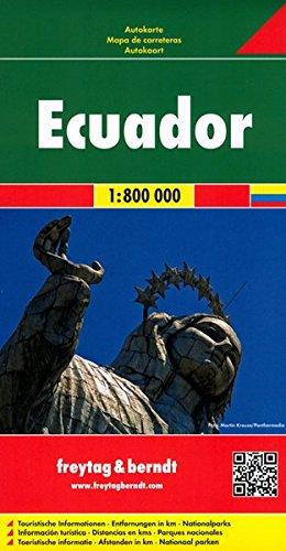 Ecuador y Galápagos, mapa de cerreteras. Escala 1:600.000 / 1:800.000. Freytag & Berndt. (Auto karte) por VV.AA.