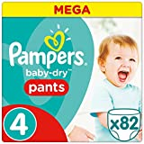 Pampers - Baby Dry Pants - Couches Taille 4 (8-15 kg) - Mega Pack (x82 culottes)
