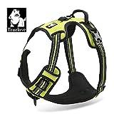 1pc Gelb Stoff Truelove Atmungsaktiv Reflexive Neon Einstellbare Safety Hundegeschirr, No-Pull-Komfortable Steuerung, die Wahre Liebe, Pup Weste S