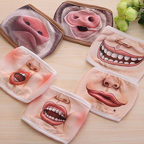 SwirlColor 2x Funny Anti-Staub-großer Mund-Maske Kostüm Cosplay Partei -