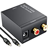 Digital zu Analog Audio Konverter olrick DAC Konverter Digital Toslink/SPDIF zu Analog stereo Audio RCA L/R Adapter mit Toslink Kabel + USB Power Kabel – für PS3 Xbox X360 HDTV Blu-ray-Maschine etc.
