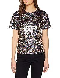 Dorothy Perkins Barbie Sequin Tee, T-Shirt Donna