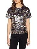Dorothy Perkins Damen T-Shirt Barbie Sequin Tee, Silber (Silver 600), 40 (Herstellergröße: 14)