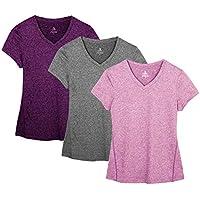 icyZone® Damen Sport T-Shirt Running Fitness Shirts Sportbekleidung Kurzarm  Oberteile Shortsleeve Top 62b15216d9