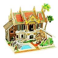 Fulltime(TM)-DIY Juguetes de Casa de Madera Artesanal Caja Miniatura Regalo Creativo Juguete Rompecabezas 3D (A)