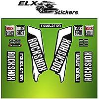 "Pegatinas HORQUILLA ROCK SHOX REVELATION 2016 ELX40 STICKERS AUFKLEBER AUTOCOLLANT DECALS BICICLETA CYCLE MTB BIKE 29"" (BLANCO/ WHITE)"