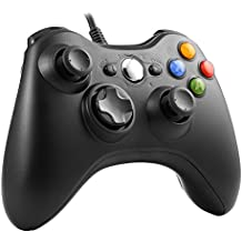 Mando Xbox 360, YKS Controlador de Gamepad Mando para PC Windows XP/7/8/10 (Negro)