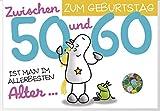 Humor 50-60 Geburtstag Karte Grußkarte Extra Konfetti Allerbesten Alter 16x11cm
