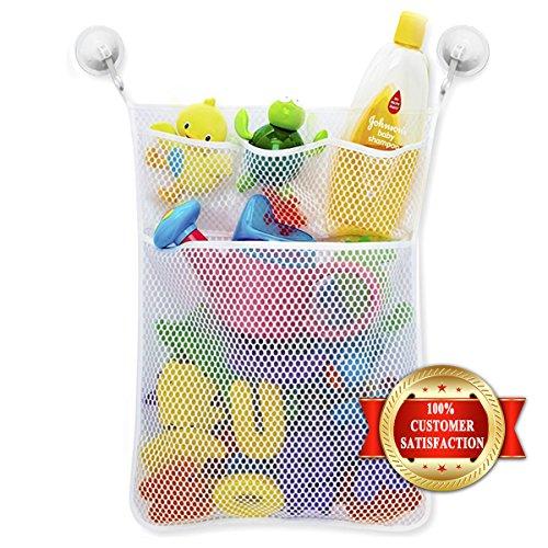 Preisvergleich Produktbild Spielzeug Weiß Tasche Organizers Badezimmer Lagerung für Baby +2 Wasserspray Spielzeug + 2 Vakuum Saugnäpfe