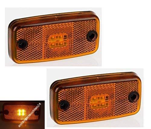 LED Umrissleuchte gelb Begrenzungsleuchte Positionsleuchte ohne Halter 12-30 V Anhänger LKW Wohnwagen Nutzfahrzeuge Trailer
