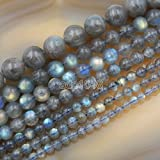 AD Perles en gros lisse pierres naturelles Perles rondes en vrac 38,1cm 4mm 6mm...