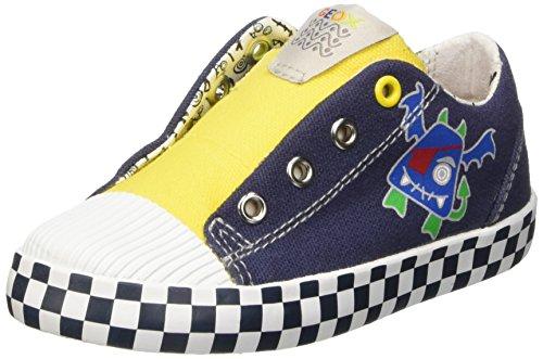 Geox B Kiwi Boy A, Scarpe Walking Baby Bambino Blu (navy/yellow)