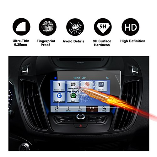 Protezione in vetro temperato schermo 8pollici per il sistema di navigazione di Ford Grand C-Max MK 2(2010–2017) invisibile pellicola protettiva per schermo vetro schermo pellicola trasparente screen protector di ruiya