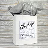 Personalised Wedding Favour Party Gift Bag | Coloured Tissue Paper (Silver Grey)