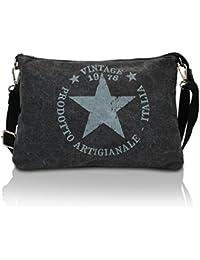 15169f4104255 Glamexx24 Damen Handtaschen Tasche Schultertasche Umhängetasche mit Stern
