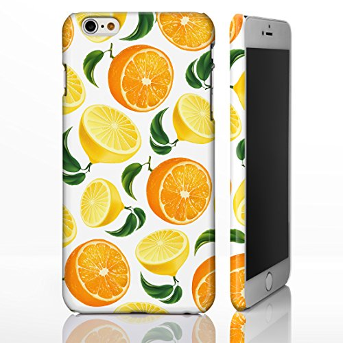iCaseDesigner Coque colorée pour iPhone Motif fruits , plastique, 4: Pineapple on Yellow Polka Dots, iPhone 6 / 6S - Slim Case 1: Oranges and Lemons on White
