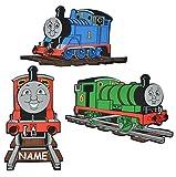 Unbekannt 3 tlg. Set: 3-D Wandbild / Wandtattoo / Türschild - Thomas die Lokomotive incl. Namen - aus Moosgummi - Eisenbahn Lok Wandsticker Wanddeko für Kinderzimmer Kind Kinder Deko Bilder