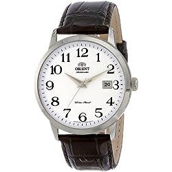 Orient ER27008W - Reloj para hombres, correa de cuero color negro