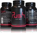 Push® - #1 Energy Booster | 60 hochdosierte Tabletten für maximale Leistungsfähigkeit | Mehr Energie, Motivation und Konzentration | Mit Taurin, Guarana, Koffein und Vitamin B12 -