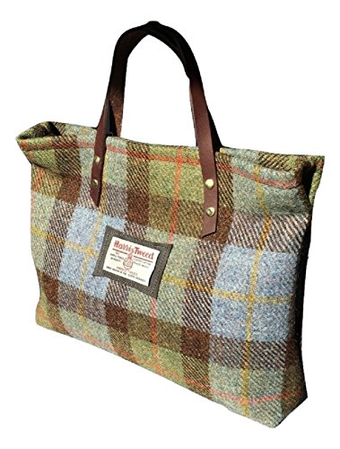 Harris Tweed Edinburgh , Damen Henkeltasche Mehrfarbig green and blue