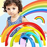 TOOGOO Colorido Bloques De Madera Juguetes Creativos Arco Iris Bloques...