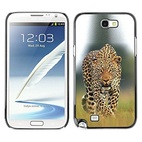 Plastic Shell Protective Case Cover    Samsung Galaxy Note 2 N7100    Big Cat Ferocious Nature @XPTECH (Samsung Galaxy Stellar Hard Case)