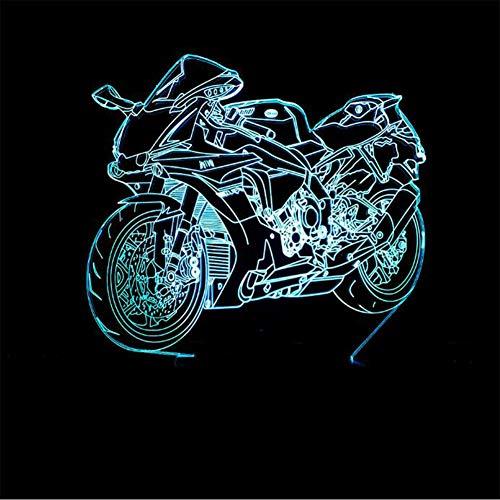 3D Nuova Moto Modello 7 Tipo Di Cambiare I Colori Fantastic Desk LED Pulsante USB Tabella Di Tocco Della Luce Della Lampada