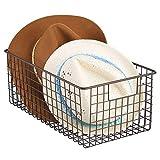 mDesign cesta metalica para los productos de limpieza de sus zapatos -...