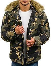 BOLF – Veste d'hiver – fermeture éclair – avec capuche – Style Militaire – Homme 1A1