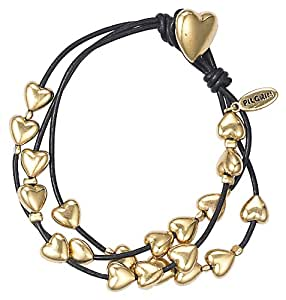 Pilgrim Damen-Armband  Leder  gold 610-902